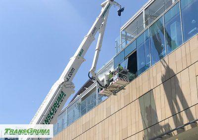 Colocación de vidrio con PEMP 78m