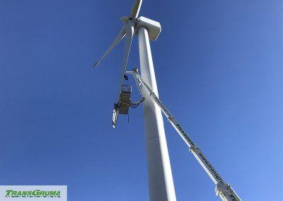 Reparación de aerofreno de aerogenerador de 55 m