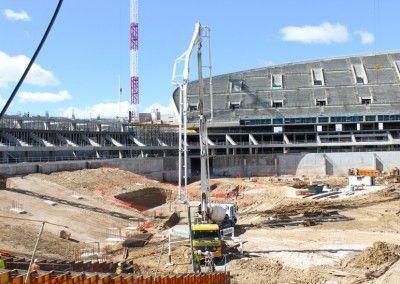 Bombeo de hormigón | Nuevo estadio Atlético de Madrid