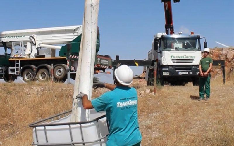 Eco-limpieza de torres eólicas