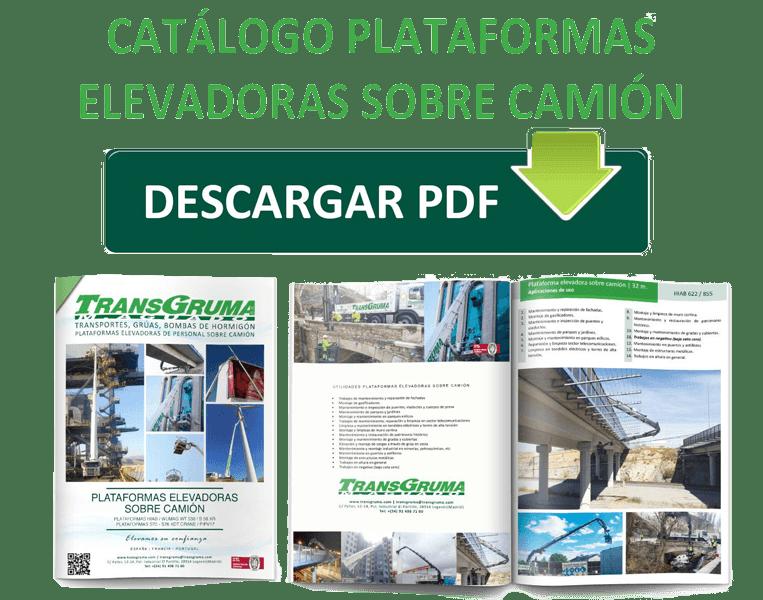 Catalogo Plataforma elevadora de personal sobre camion