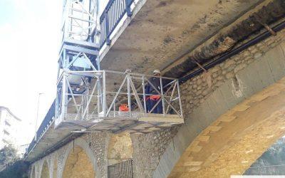 Instalación de tubería en puente con PEMP-N 70S